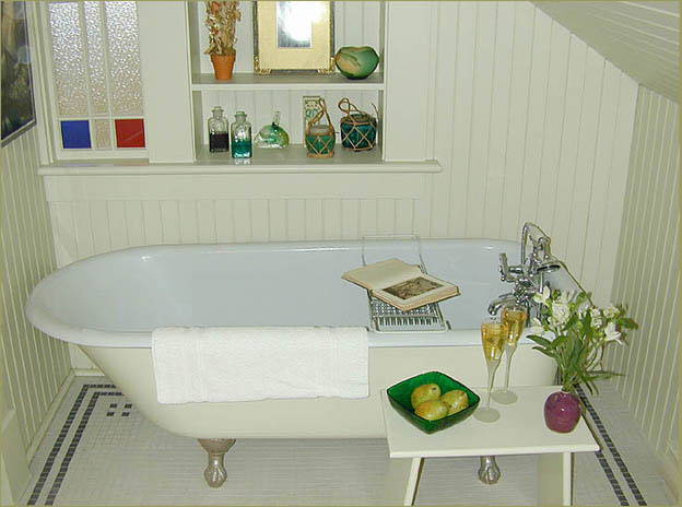 Bathroom and claw foot bathtub