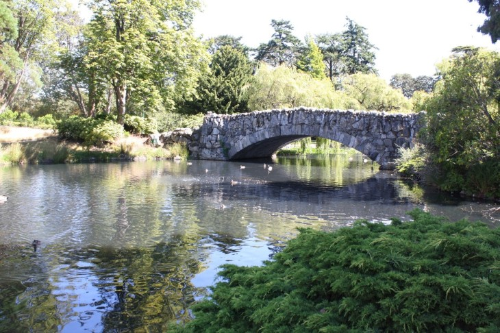 The medieval bridge in Beacon Hill Park