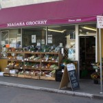 Niagara Grocery, established in 1909, and just around the corner, features locally-sourced products.